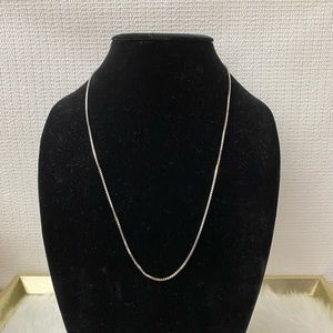 Jewelry - 14K Solid White Gold Heavy Box Chain